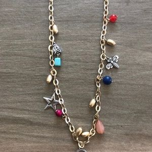 Brand new adjustable charm necklace